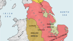 Map Of England Divided Into Regions Danelaw Wikipedia