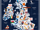 Map Of England for Children Map Showing Things Of Interest In the British isles