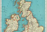 Map Of England In 1600 1939 Antique British isles Map Vintage United Kingdom Map