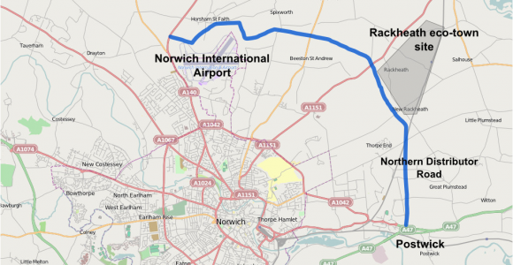 Map Of England norwich File norwich northern Distributor Png Wikimedia Commons