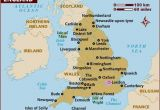 Map Of England Showing Blackpool Map Of England