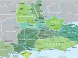 Map Of England Showing Dorset Map Of south East England Visit south East England