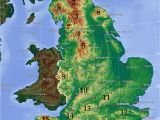 Map Of England Showing Newcastle Mountains and Hills Of England Wikipedia