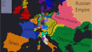 Map Of Europe 1618 Europe In 1618 Beginning Of the 30 Years War Maps