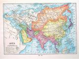 Map Of Europe 1910 asia Map Antique 1910 World atlas Book Plate 9 X 7 Ta