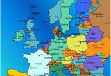 Map Of Europe 1914 with Capitals Country Names A Maps 2019