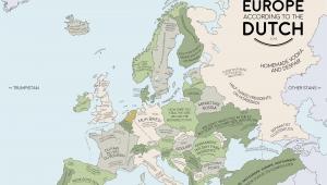 Map Of Europe 1923 Europe According to the Dutch Europe Map Europe Dutch