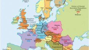 Map Of Europe 1945 Iron Curtain A Map Of Europe During the Cold War You Can See the Dark