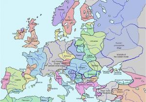 Map Of Europe 19th Century atlas Of European History Wikimedia Commons