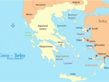 Map Of Europe Aegean Sea Greece Turkey Ferry Map and Guide