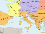 Map Of Europe and Mediterranean which Countries Make Up southern Europe Worldatlas Com