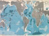 Map Of Europe and Oceans World Ocean Depths Map Wallpaper Mural Home World Map
