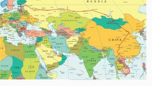Map Of Europe asia Eastern Europe and Middle East Partial Europe Middle East