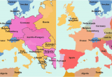 Map Of Europe before and after Ww1 Map Of European Countries During World War 1 Download them