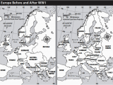 Map Of Europe before World War 1 Europe before after Wwi Teaching Effects Of Wwi Ww