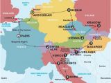 Map Of Europe English Channel Europe tours Trips 2016 2017 with Contiki World Travel