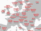 Map Of Europe Fill In the Japanese Stereotype Map Of Europe How It All Stacks Up