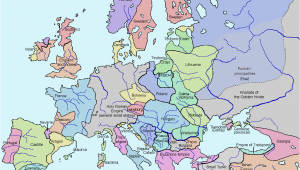 Map Of Europe In 1300 atlas Of European History Wikimedia Commons