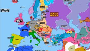 Map Of Europe In 1919 Europe 1919 Map