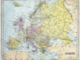 Map Of Europe In 19th Century Fotografia Map Of 19th Century Europe Kup Na Posters Pl