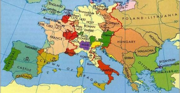Map Of Europe In Middle Ages Europe In the Middle Ages Maps Map Historical Maps Old