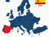 Map Of Europe In Spanish Spain On the Map Of Europe