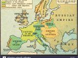 Map Of Europe Napoleonic Wars Historical Map Of Europe Stock Photos Historical Map Of