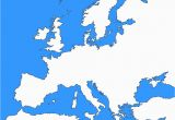Map Of Europe Not Labeled 36 Intelligible Blank Map Of Europe and Mediterranean