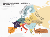 Map Of Europe Oceans Culinary Map Of Europe According to France Information is