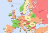 Map Of Europe Post Ww1 Europe Map after Ww1 Climatejourney org