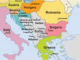 Map Of Europe Showing Slovenia Eu Enlargement Western Balkans Multimedia Centre