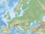 Map Of Europe topographical Europe topographic Map Climatejourney org