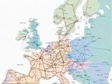 Map Of Europe Trains Train Map for Europe Rail Traveled In 1989 with My Ill