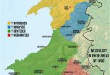 Map Of Europe Wales Map Of Welsh Dialects Made by Me Based Off A Collection Of