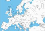 Map Of Europe with Capital Cities A Map Of Europe with Capital Cities as Labeled by An
