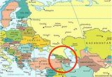 Map Of Europe with Mountains Caucasus Mountains Map Location Caucasus Mountains On