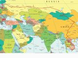 Map Of Europe with Russia Eastern Europe and Middle East Partial Europe Middle East