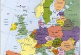 Map Of Europe with Seas Map Of Europe Maps Kontinente Europe Reisen Und Europa