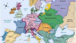 Map Of Europes Map Europe Circa 1492 Maps Europe Geschichte