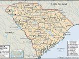 Map Of Florida Georgia and south Carolina State and County Maps Of south Carolina