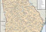Map Of Florida Georgia Border State and County Maps Of Georgia