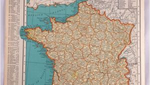 Map Of France and Belgium with Cities 1937 Map Of France Antique Map Of France 81 Yr Old Historical