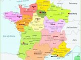 Map Of France and Germany with Cities Printable Map Of France Tatsachen Info
