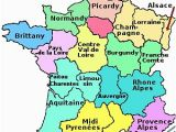 Map Of France and Neighbouring Countries the Regions Of France