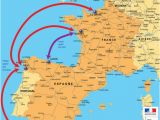 Map Of France and Spain Border Motorway Aires the French Wild West Bordeaux to the Spanish Border