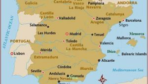 Map Of France and Spain with Cities Map Of Spain