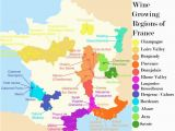 Map Of France In French French Wine Growing Regions and An Outline Of the Wines Produced In