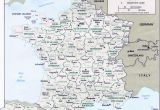 Map Of France Showing Departments Map Of France Departments France Map with Departments and