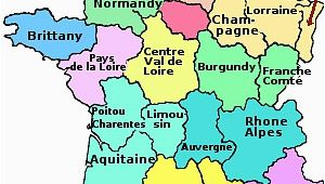 Map Of France Showing Regions the Regions Of France
