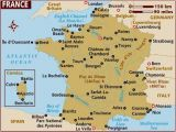 Map Of France Showing toulouse Map Of France